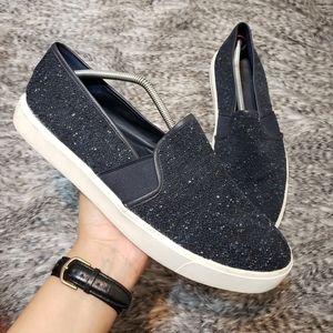 VINCE. Blair Navy Speckled Slip On Sneakers